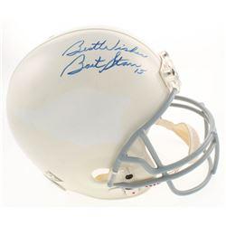 """Bart Starr Signed Full-Size Helmet Inscribed """"Best Wishes"""" (Beckett COA)"""