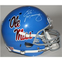 Eli Manning Signed Ole Miss Rebels Full Size Throwback Helmet (Steiner COA)