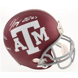 "Kenny Hill  Speedy Noil Signed Texas AM Aggies Custom Matte Full-Size Helmet Inscribed ""Trill""  ""Gig"
