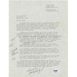 Sandy Koufax Signed Typed Letter With Extensive Inscriptions (JSA LOA)