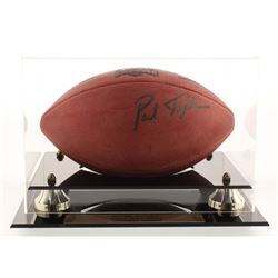 "Garth Brooks  Paul Tagliabue Signed Super Bowl XXVII Official NFL Game Ball Inscribed ""God Bless"" wi"