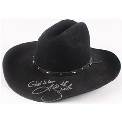 "Garth Brooks Signed Cowboy Hat Inscribed ""God Bless"" (Beckett COA)"