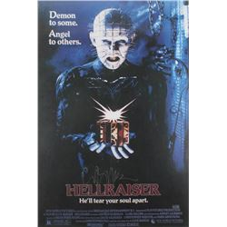 "Clive Barker Signed ""Hellraiser"" 24x36 Movie Poster (Radtke Hologram)"