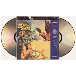 Ray Harryhausen Signed  The 7th Voyage of Sinbad  LaserDisc (JSA COA)