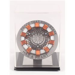 Iron Man Light Up Arc Reactor Movie Replica Prop with Display Case