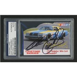 Dale Earnhardt Signed Nascar Die Cut Card (PSA Encapsulated)