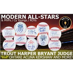 Mystery Ink Modern All-Stars Baseball Edition! 1 All-Star / MVP / Cy Young / ROY Signed Baseball In