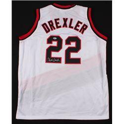 Clyde Drexler Signed Trail Blazers Jersey (Beckett COA)