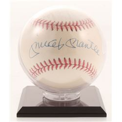 Mickey Mantle Signed OAL Baseball with Display Case (UDA COA)
