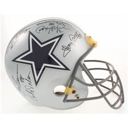 Dallas Cowboys Greats Full-Size Helmet Team-Signed by (11) with Roger Staubach, Tom Landry, Mel Renf