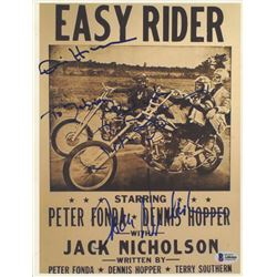 "Dennis Hopper, Peter Fonda  Jack Nicholson Signed ""Easy Rider"" 8x10 Photo Inscribed ""Best Wishes"" (B"