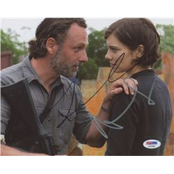 "Andrew Lincoln  Lauren Cohan Signed ""The Walking Dead"" 8x10 Photo (PSA COA)"