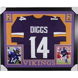 Stefon Diggs Signed Minnesota Vikings 35x43 Custom Framed Jersey (Beckett COA)