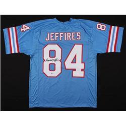 Haywood Jeffires Signed Houston Oilers Jersey (Beckett COA)