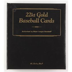 Set of (50) 22kt Gold Baseball Cards With Phil Niekro, Cy Young, Babe Ruth
