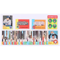 Lot of (40) 1963 Topps Baseball Cards with #154 Walt Alston, #158 Rookie Stars, #151 Pittsburgh Pira