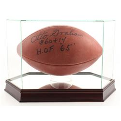 """Otto Graham Signed NFL Football Inscribed """"H.O.F. '65"""" with High-Quality Display Case (Beckett COA)"""