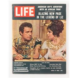 Vintage 1962 Elizabeth Taylor Life Magazine with 1962 Post #5B Mickey Mantle  1962 Post #6B Roger Ma