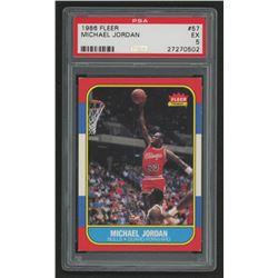 1986-87 Fleer #57 Michael Jordan RC (PSA 5)