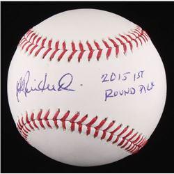 """Andrew Benintendi Signed OML Baseball Inscribed """"2015 1st Round Pick"""" (PSA COA)"""