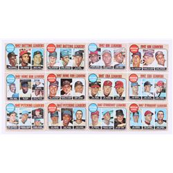Lot of (12) 1968 Topps Baseball Cards with #3 NL RBI Leaders, #4 AL RBI Leaders, #5 NL Home Run Lead