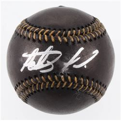 Fernando Tatis Jr. Signed OML Black Leather Baseball (JSA COA)