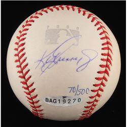 Ken Griffey Jr. Signed LE OML Commemorative Baseball (UDA COA)