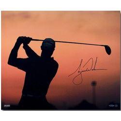 """Tiger Woods Signed """"Sunrise"""" 20x24 Photo (UDA COA)"""