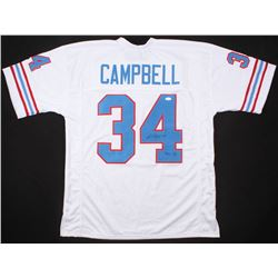 "Earl Campbell Signed Houston Oilers Jersey Inscribed ""HOF 91"" (JSA COA)"