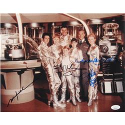 """Lost in Space"" 11x14 Photo Signed by (4) with Angela Cartwright, Bill Mumy, Mark Goddard,  Marta Kr"