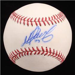 Martin Perez Signed OML Baseball (JSA COA)