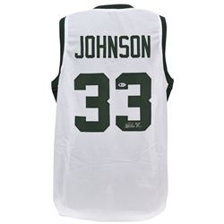 Magic Johnson Signed Michigan State Spartans Jersey (Beckett COA)