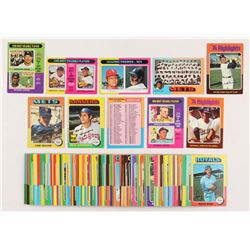 Lot of (100) 1975 Topps Baseball Cards with #370 Tom Seaver, #106 Mike Hargrove, #421 New York Mets