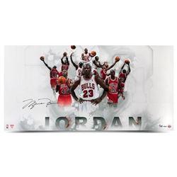 Michael Jordan Signed Chicago Bulls Limited Edition 18x36 Photo (UDA COA)