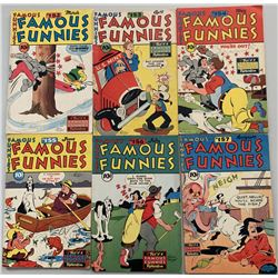 "Lot of (6) 1947 ""Famous Funnies"" Comic Books with #152-157"