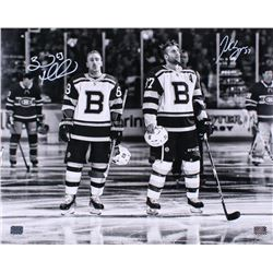 Patrice Bergeron  Brad Marchand Signed Boston Bruins 16x20 Photo (Bergeron  Marchand COA)