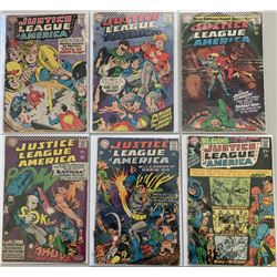 "Lot of (6) 1964-1967 ""Justice League of America"" 1st Series DC Comic Books with #29, #44-46, #55  #5"