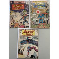 "Lot of (3) 1956-63 ""Action Comics"" DC Comic Books with #220, #300  #303"