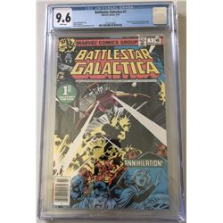 "1979 ""Battlestar Galactica"" Issue #1 Marvel Comic Book (CGC 9.6)"