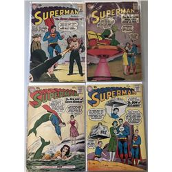 "Lot of (4) 1958-1960 ""Superman"" 1st Series DC Comic Books with #122, #136, #139-140"
