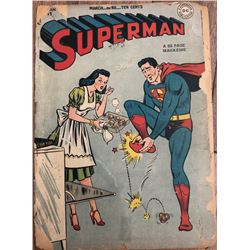 "1939 ""Superman"" 1st Series Issue #51 DC Comic Book"