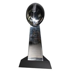"Eli Manning Signed Replica Full Size Super Bowl XLII Lombardi Trophy Inscribed ""SBXLII MVP"" (Steiner"
