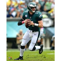 Carson Wentz Signed Philadelphia Eagles 16x20 Photo Inscribed  AO1  (Fanatics Hologram)