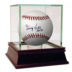 "George Kell Signed Baseball Inscribed ""HOF 83"" with High Quality Display Case (PSA Hologram)"