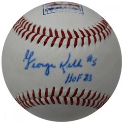"George Kell Signed Hall of Fame Logo Baseball Inscribed ""HOF 83"" (JSA Hologram)"