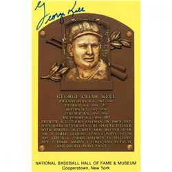 George Kell Signed Gold Hall of Fame Postcard (JSA Hologram)