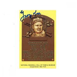 George Kell Signed Gold Hall of Fame Postcard (JSA Hologram)