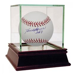 Hank Bauer Signed OML Baseball with High Quality Display Case (JSA Hologram)