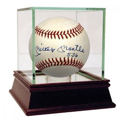 "Mickey Mantle Signed OAL Baseball Inscribed ""536"" (PSA Hologram)"