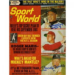 Mickey Mantle  Willie Mays Signed 1967 Sport World Magazine (JSA Hologram)